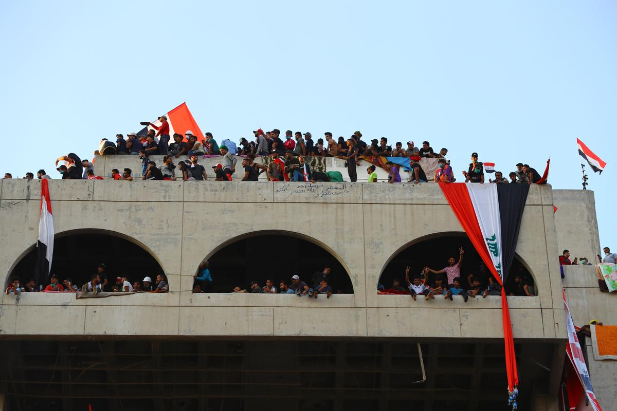 Hollow building becomes center of Iraq's uprising