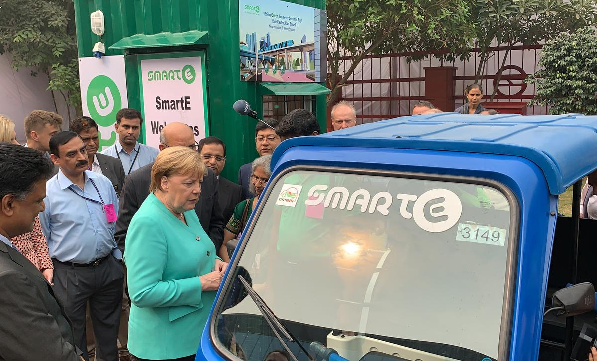 Merkel wants Germany to have 1 mln electric car charging points by 2030