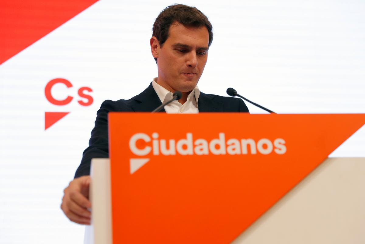Spain's Rivera steps down as lawmaker and Ciudadanos party leader