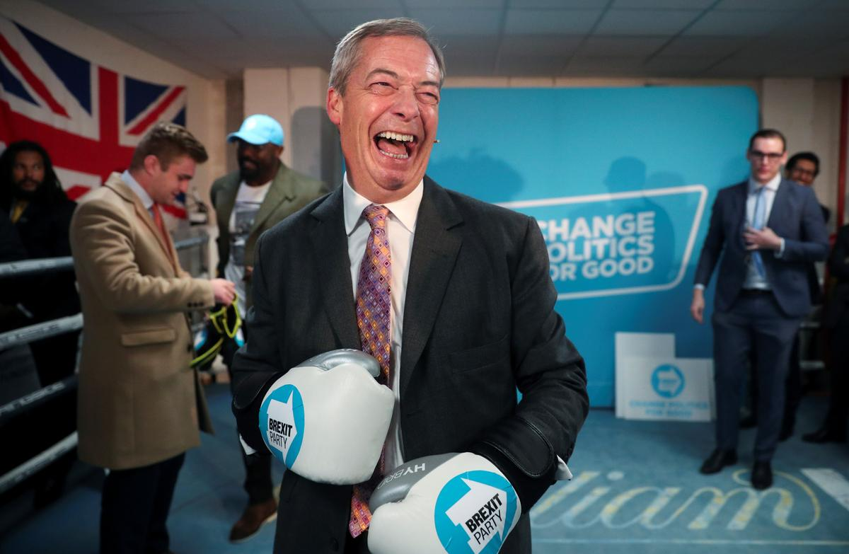 No more surrender for Brexit Party's Farage in British election