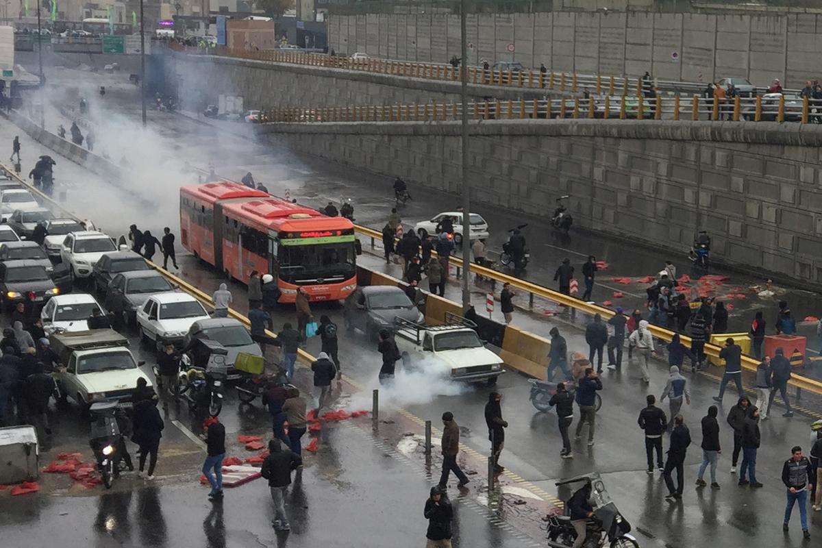 Iran's protests against gasoline price hike turn political: media