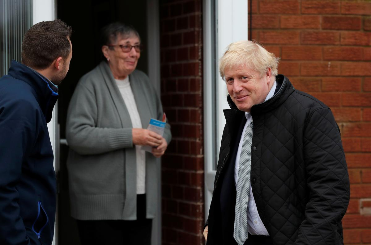 UK's Johnson has 16-point lead over Labour before election: Opinium poll