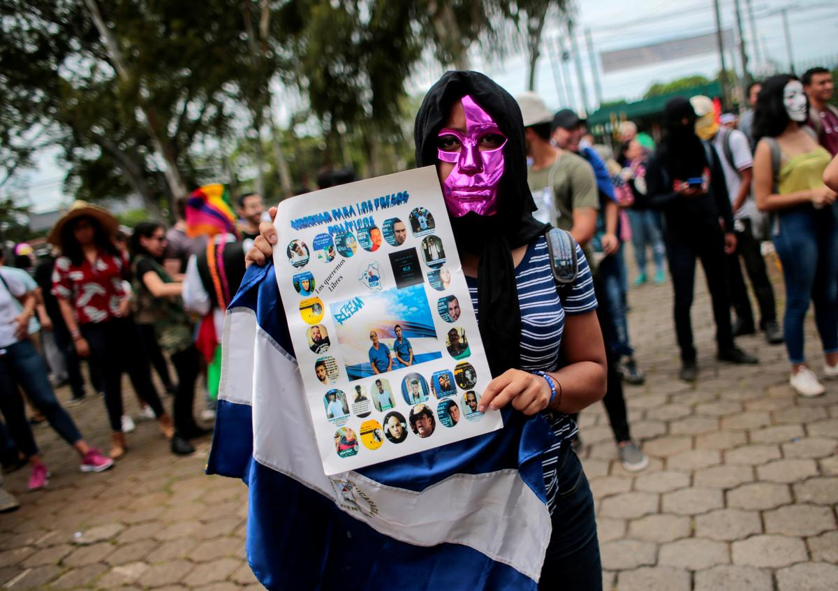 Nicaraguan police accuse anti-government protesters of planning attacks