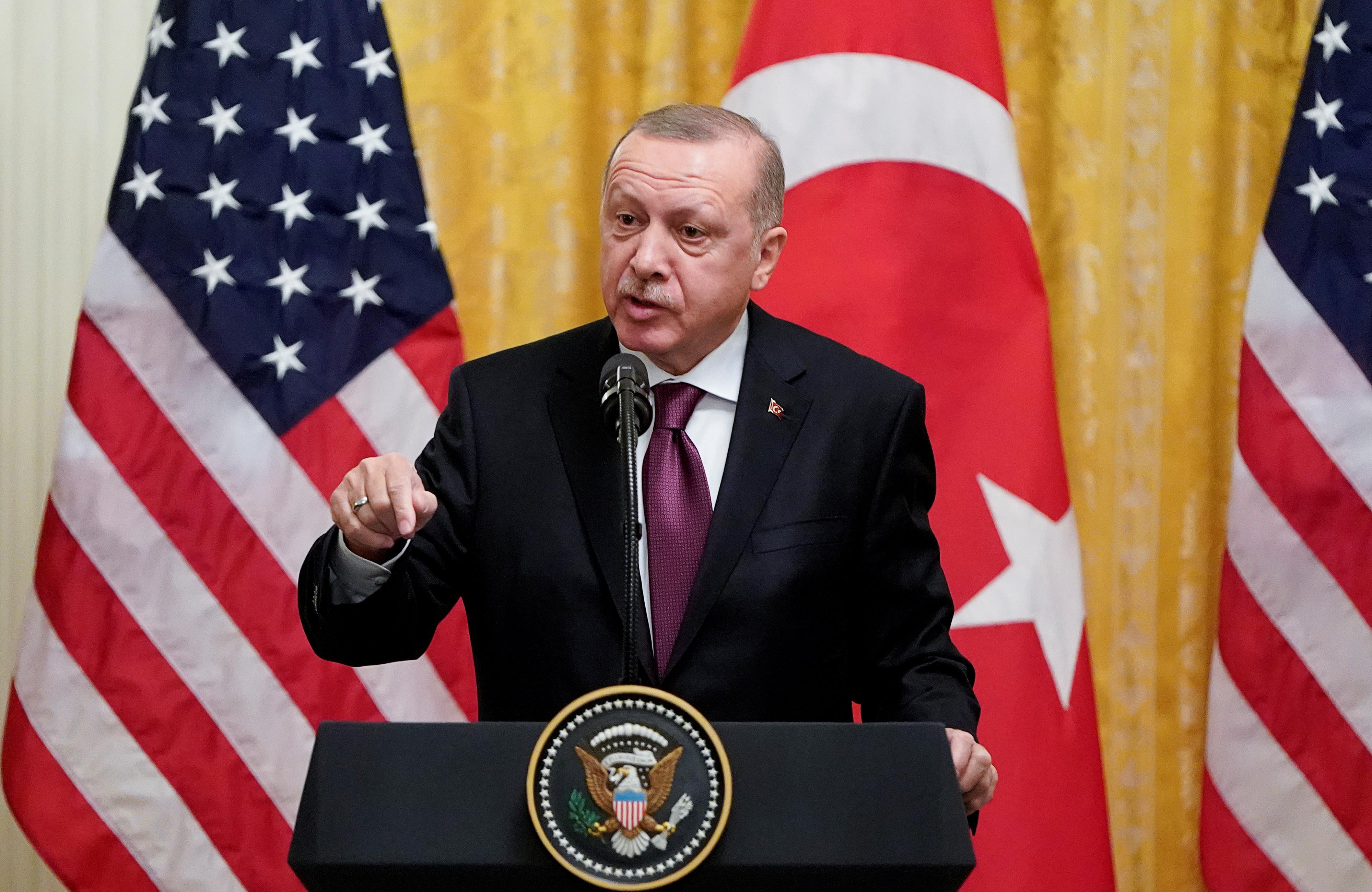 Erdogan says Turkey aware that U.S. support for Kurdish YPG will...