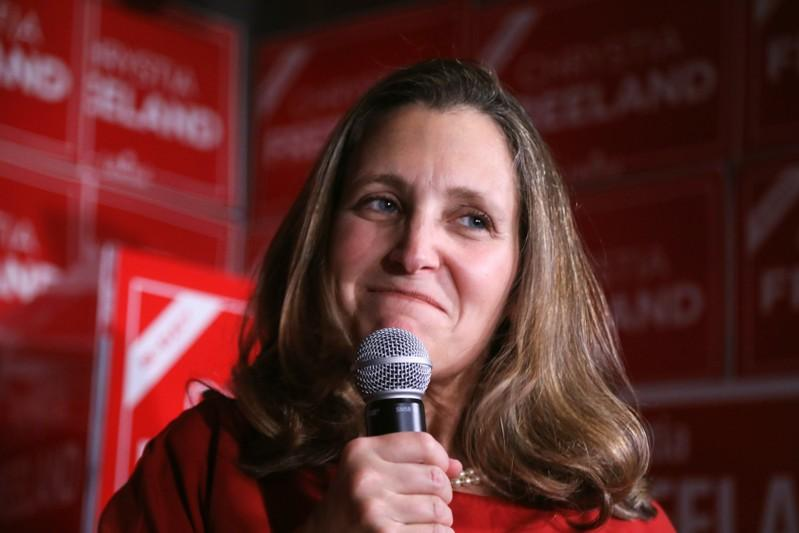 Canadian foreign minister Freeland to get new job: Radio-Canada