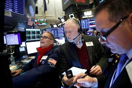 Stocks slip, dollar rebounds on trade hopes stir sentiment