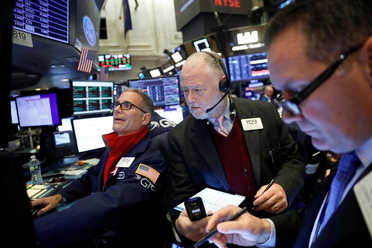 Wall Street rises with U.S.-China trade mood, upbeat economic data
