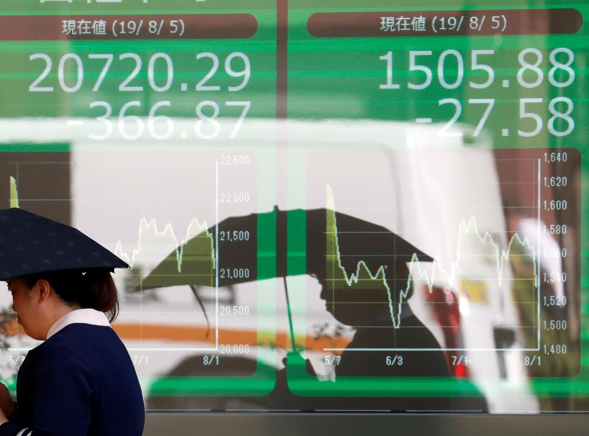 Asia shares find footing as mood swings on trade