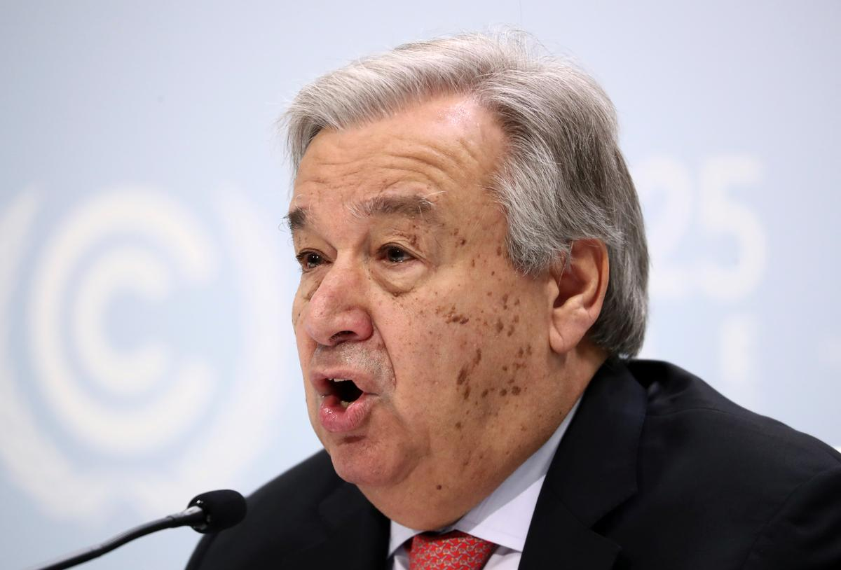 'War against nature must stop,' U.N. chief says before climate talks