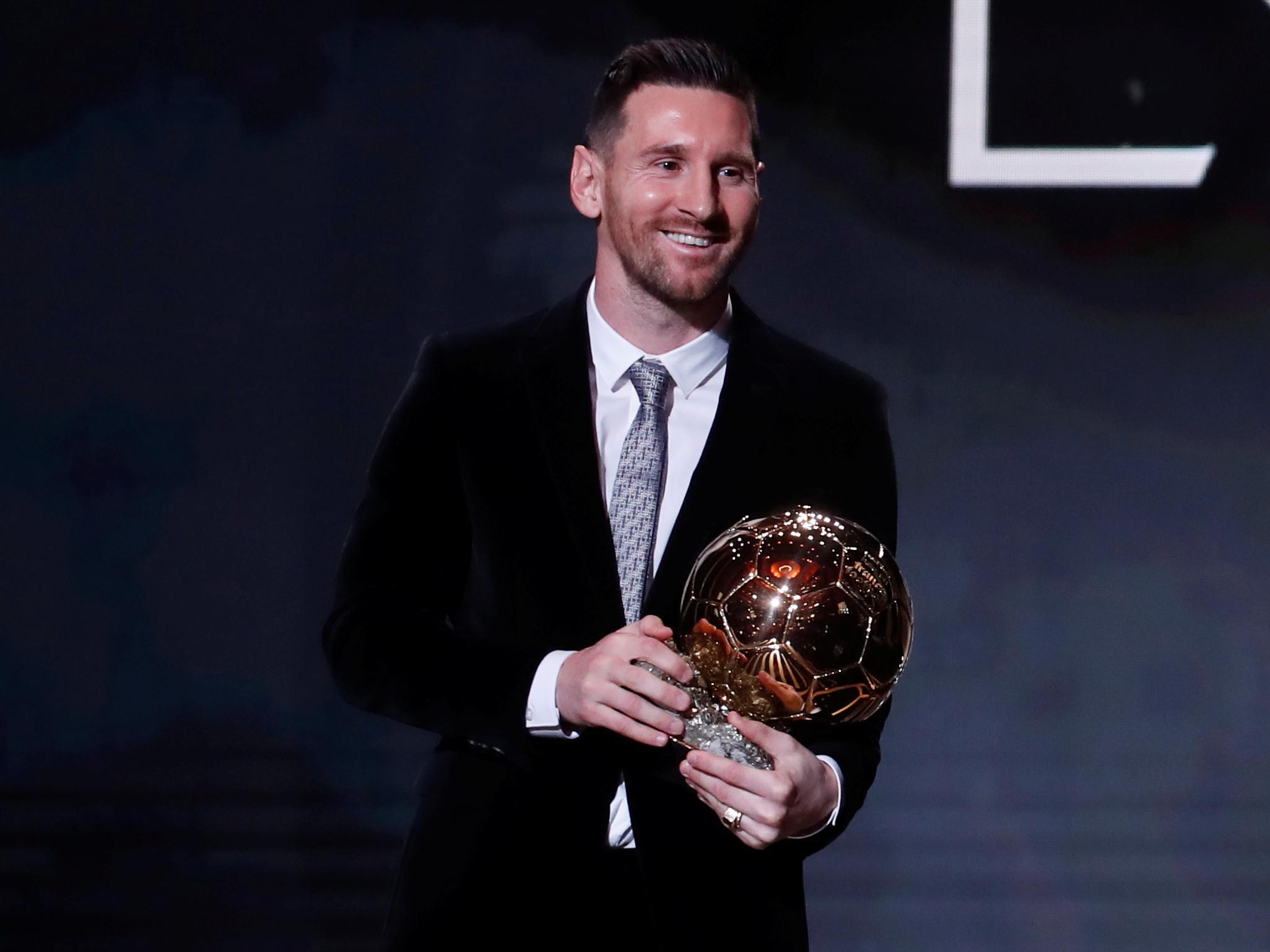 Cool Messi 6th Ballon Dor Wallpaper Wallpaper