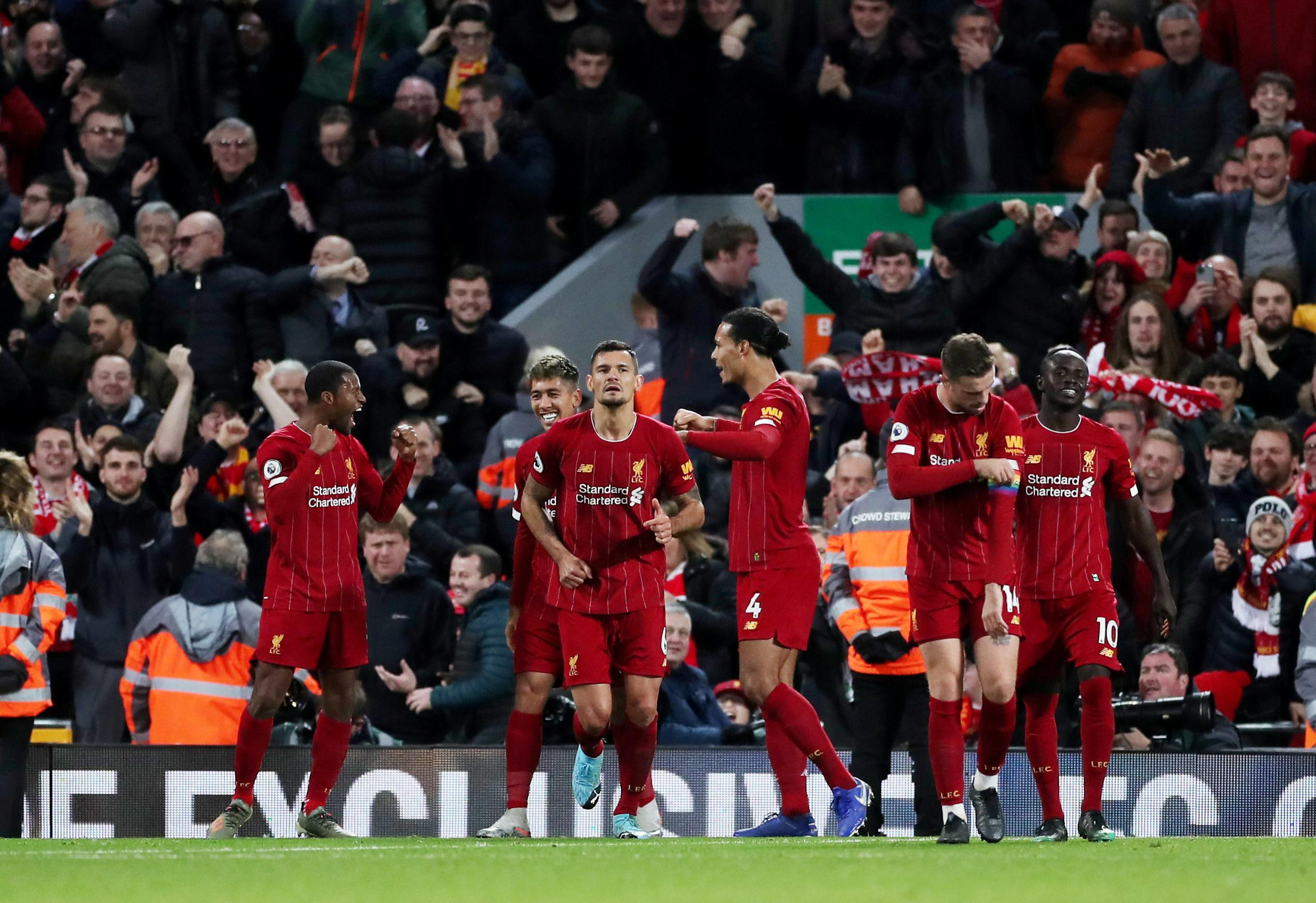 Liverpool enjoy derby demolition, Leicester still chasing