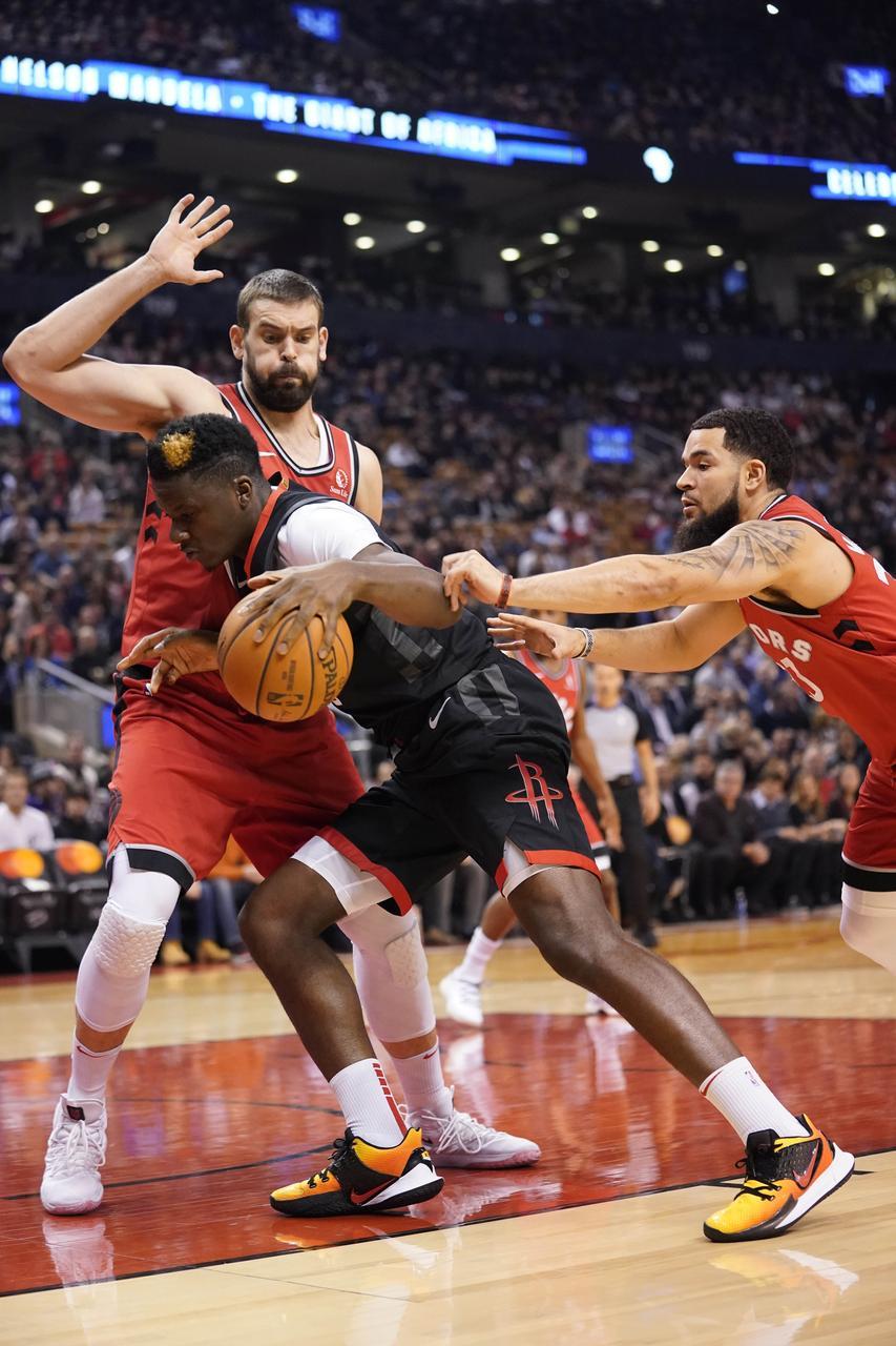 Despite Blow To Head Harden Leads Rockets Past Raptors