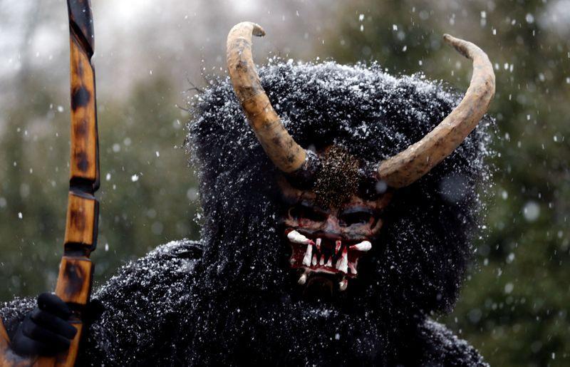 Devils chase children in Czech village's eerie Christmas custom