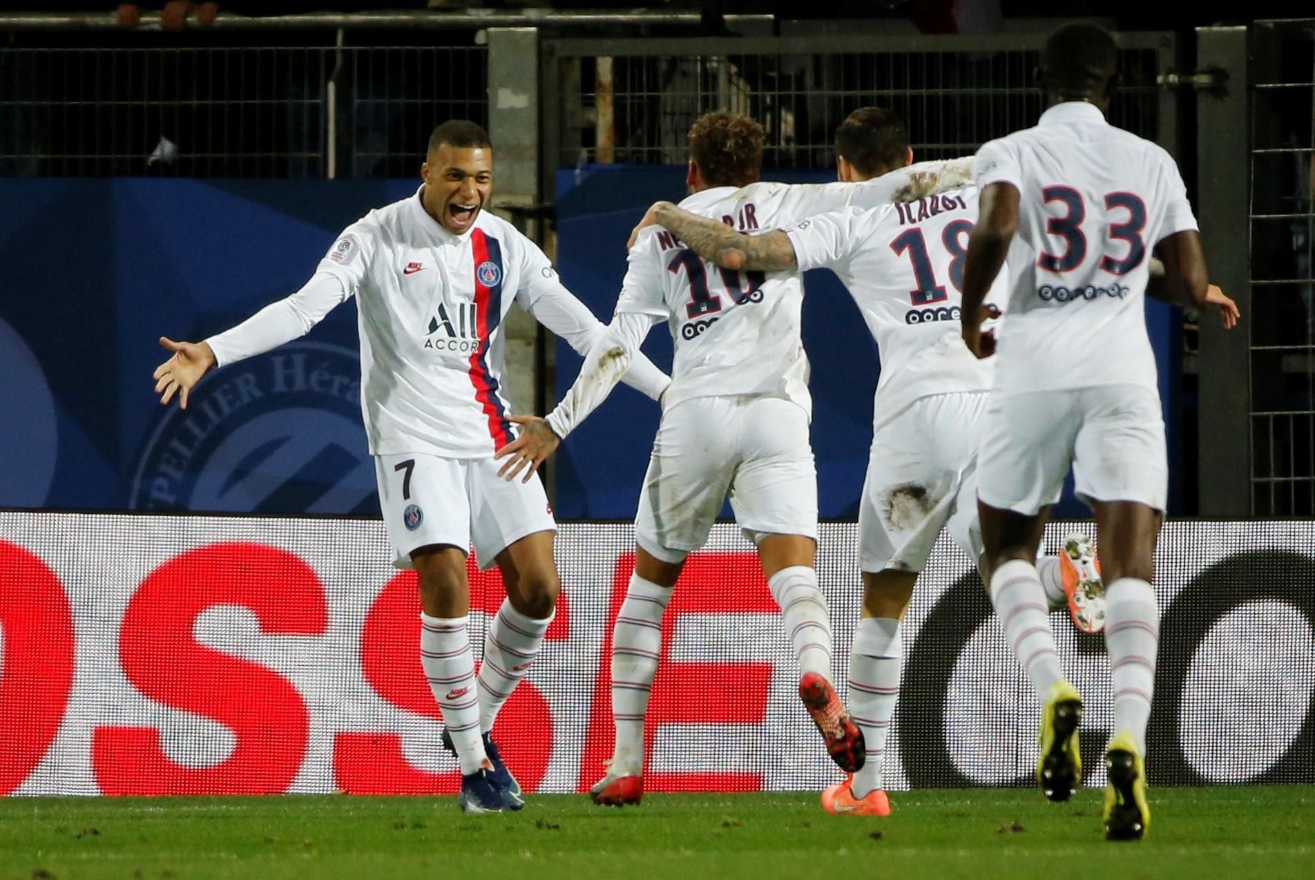 Attacking trio lead PSG to comeback win over Montpellier