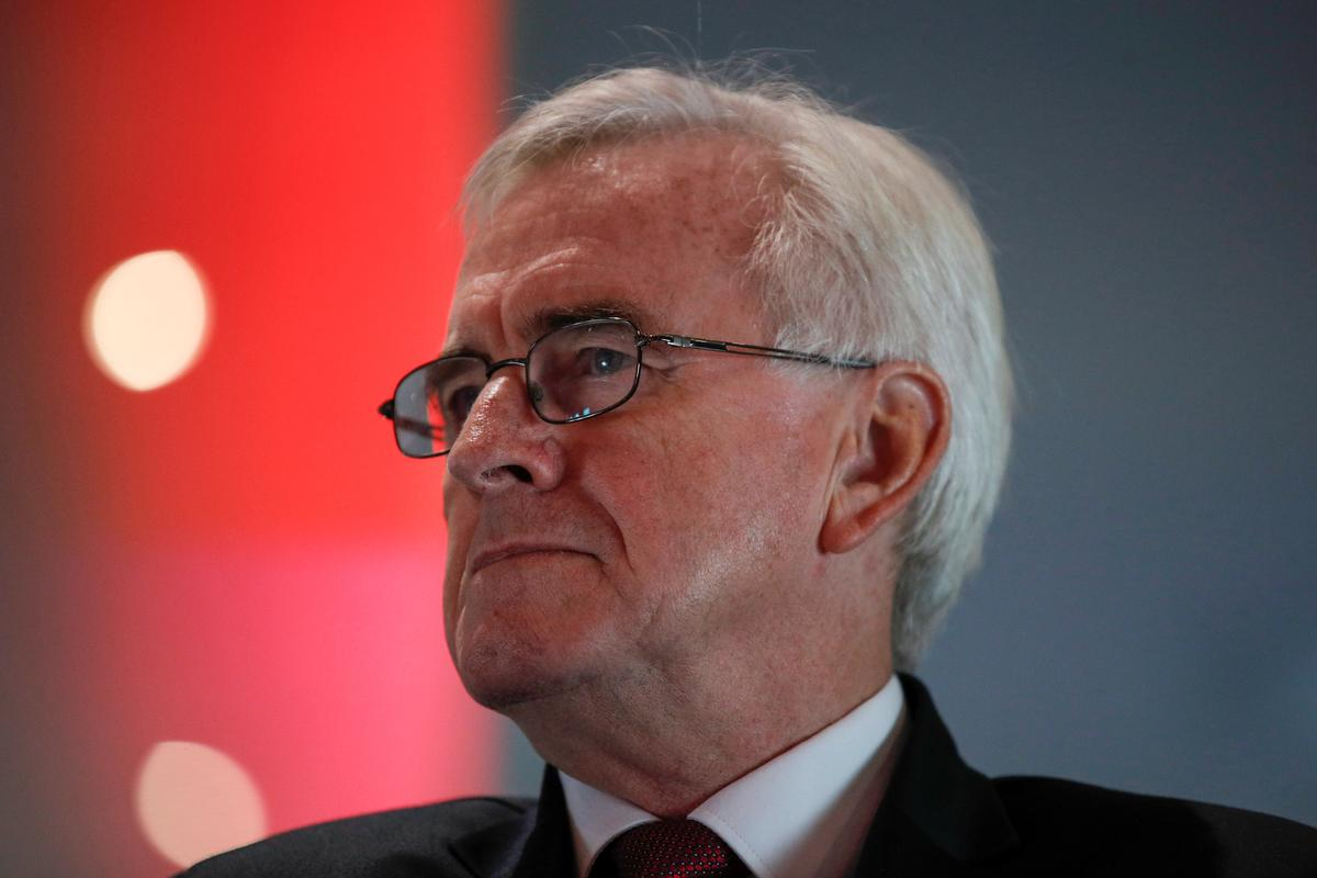 UK Labour's McDonnell: I worry anti-Semitism has affected our election campaign