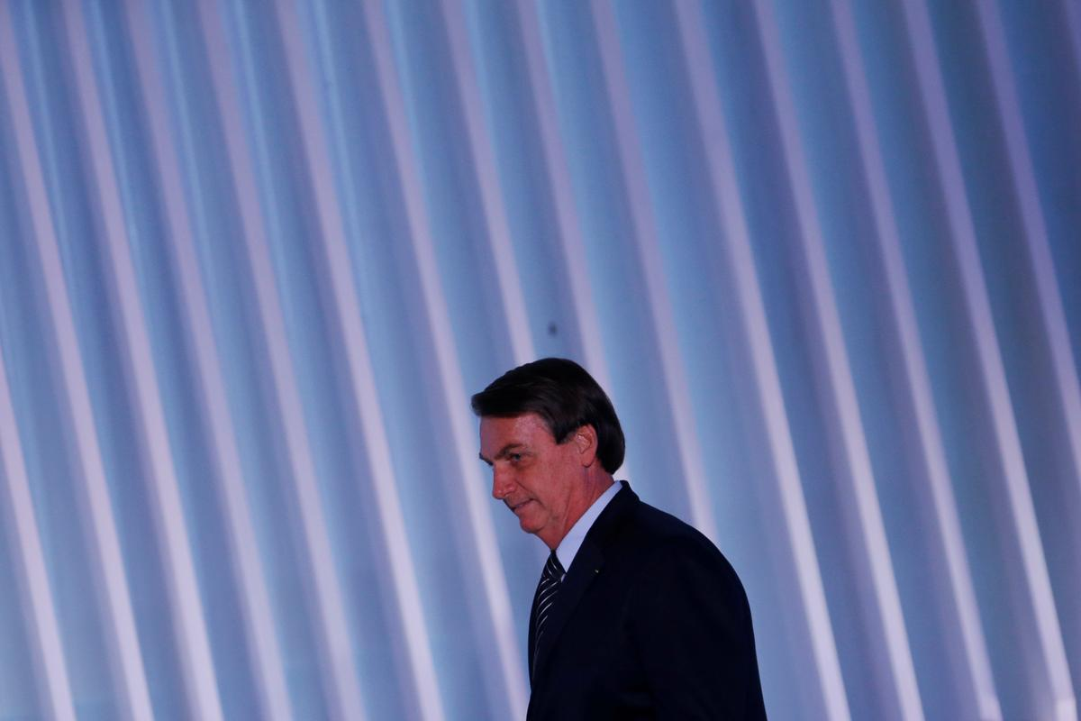 Brazil president Bolsonaro says has a possible skin cancer
