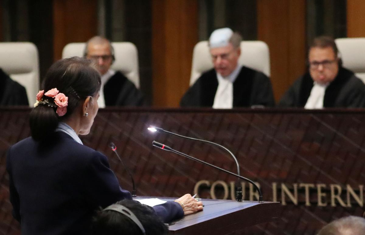 Myanmar's Suu Kyi back in U.N. court for final day of genocide hearing