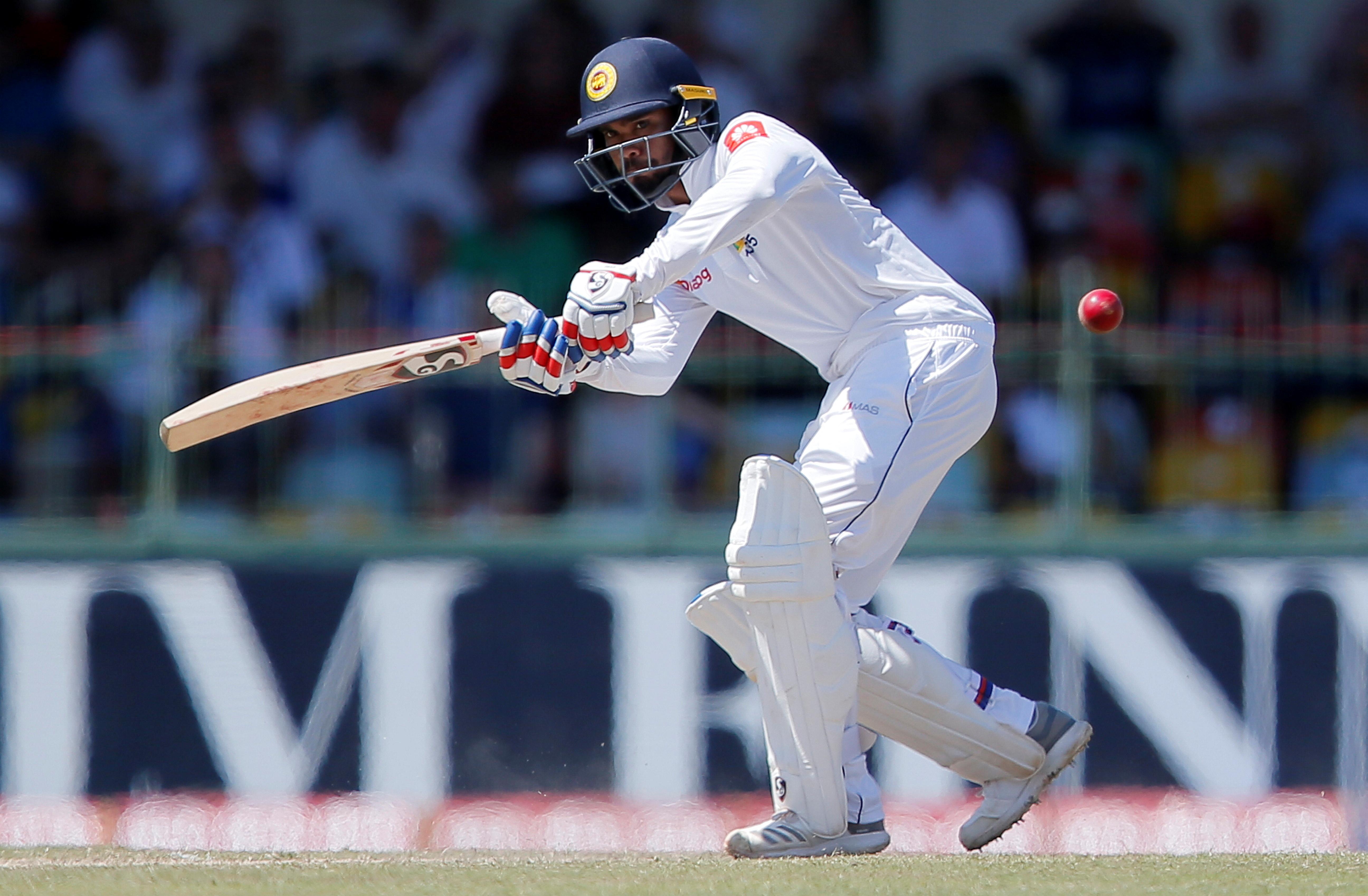 De Silva steadies Sri Lanka on weather-hit day