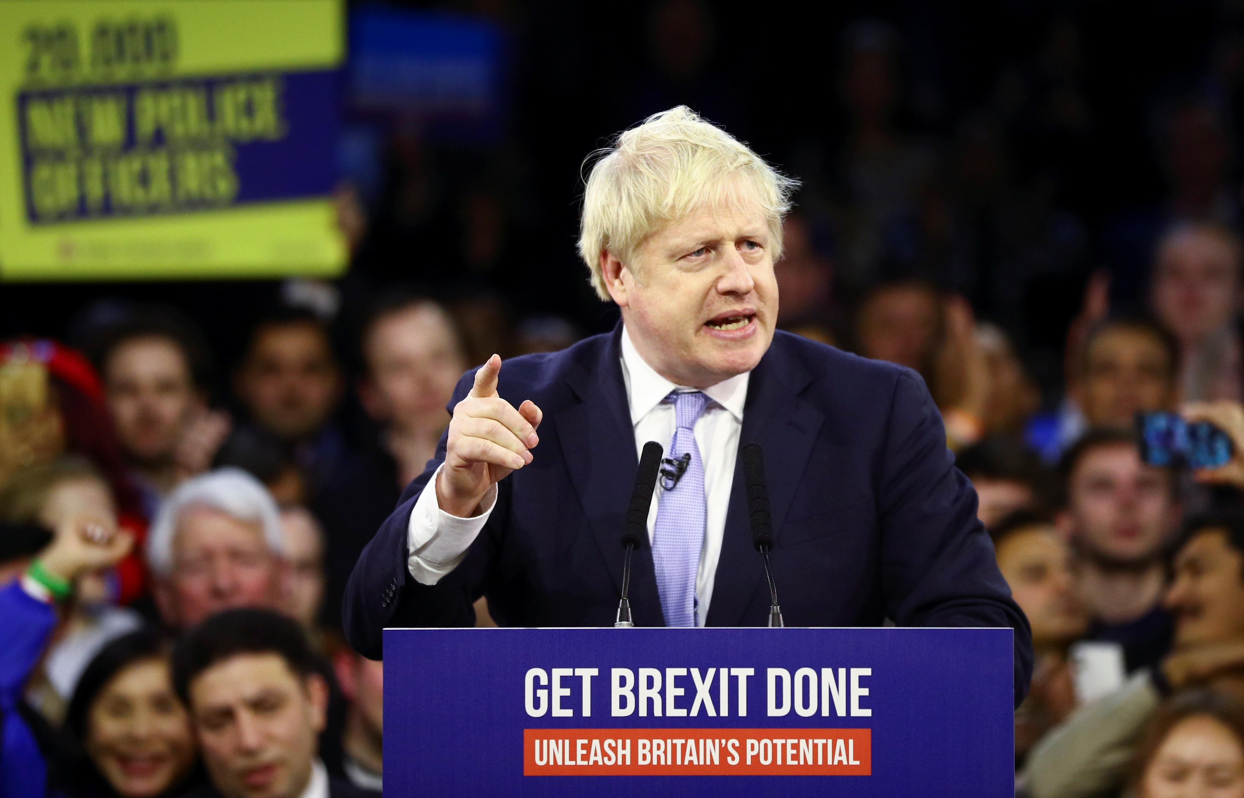 British PM Johnson heads for big Brexit election win
