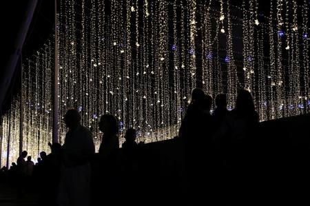 Venezuela Christmas decorations light up anger over blackouts