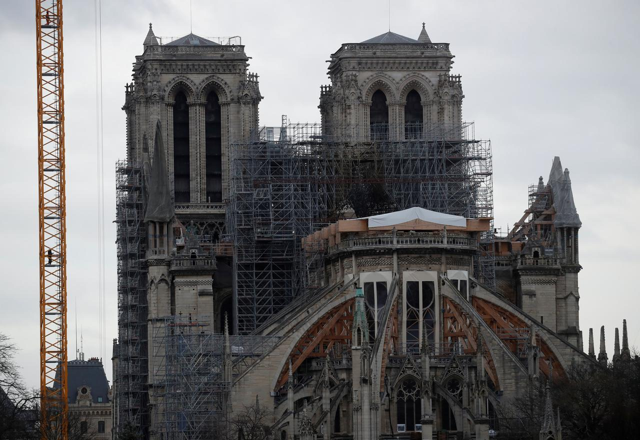 Notre Dame Restoration Enters Risky Phase With Scaffolding Removal
