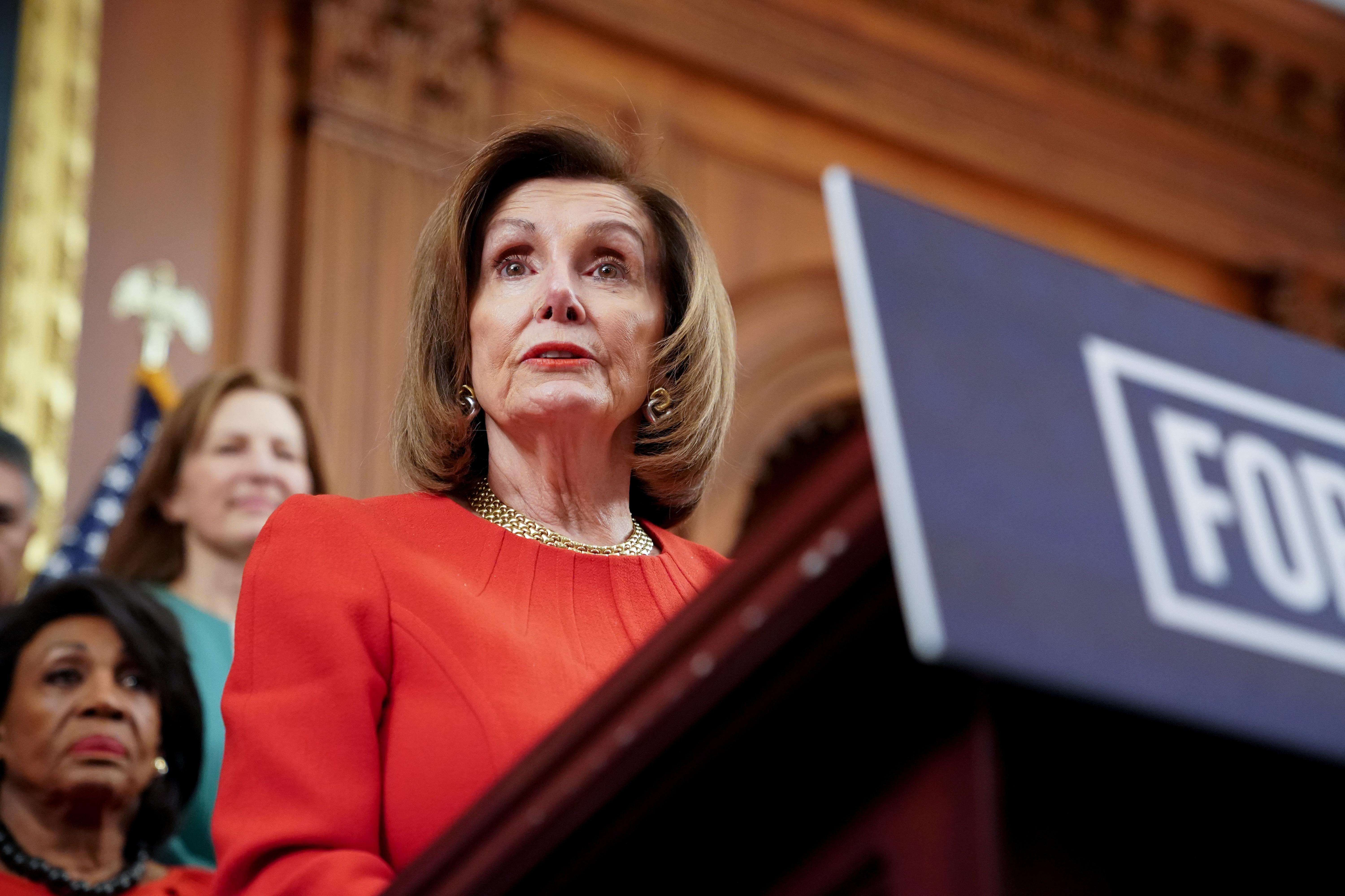 Pelosi says House to vote on resolution to limit Trump's military...
