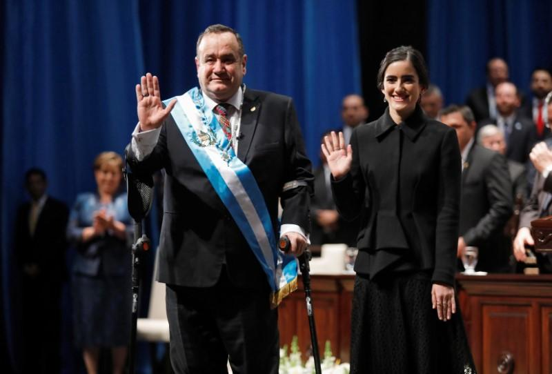 Giammattei sworn in as Guatemalan president after delays