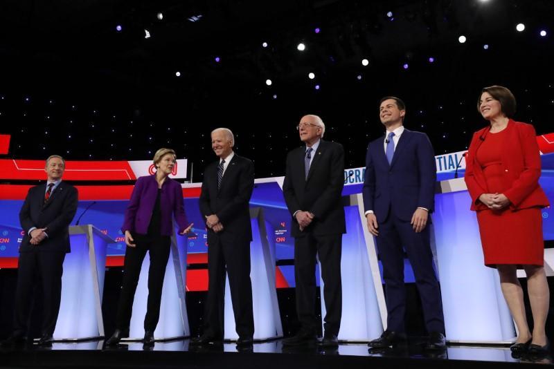 Highlights: Biden, Sanders spar over Iraq war vote at start of Democratic debate