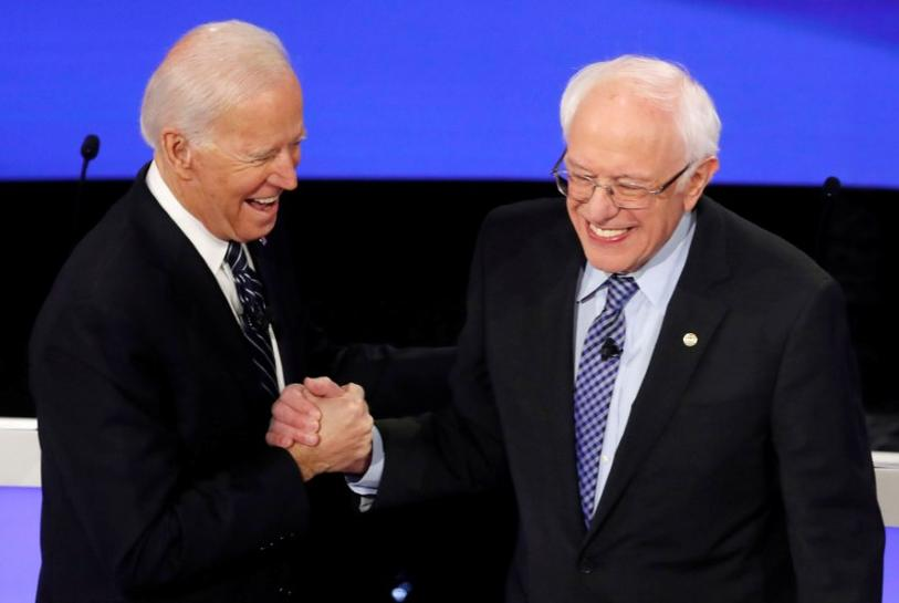 Sanders climbs, now tied with Biden among registered voters: Reuters poll