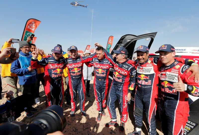 Sainz a triple Dakar winner as Brabec makes U.S. history