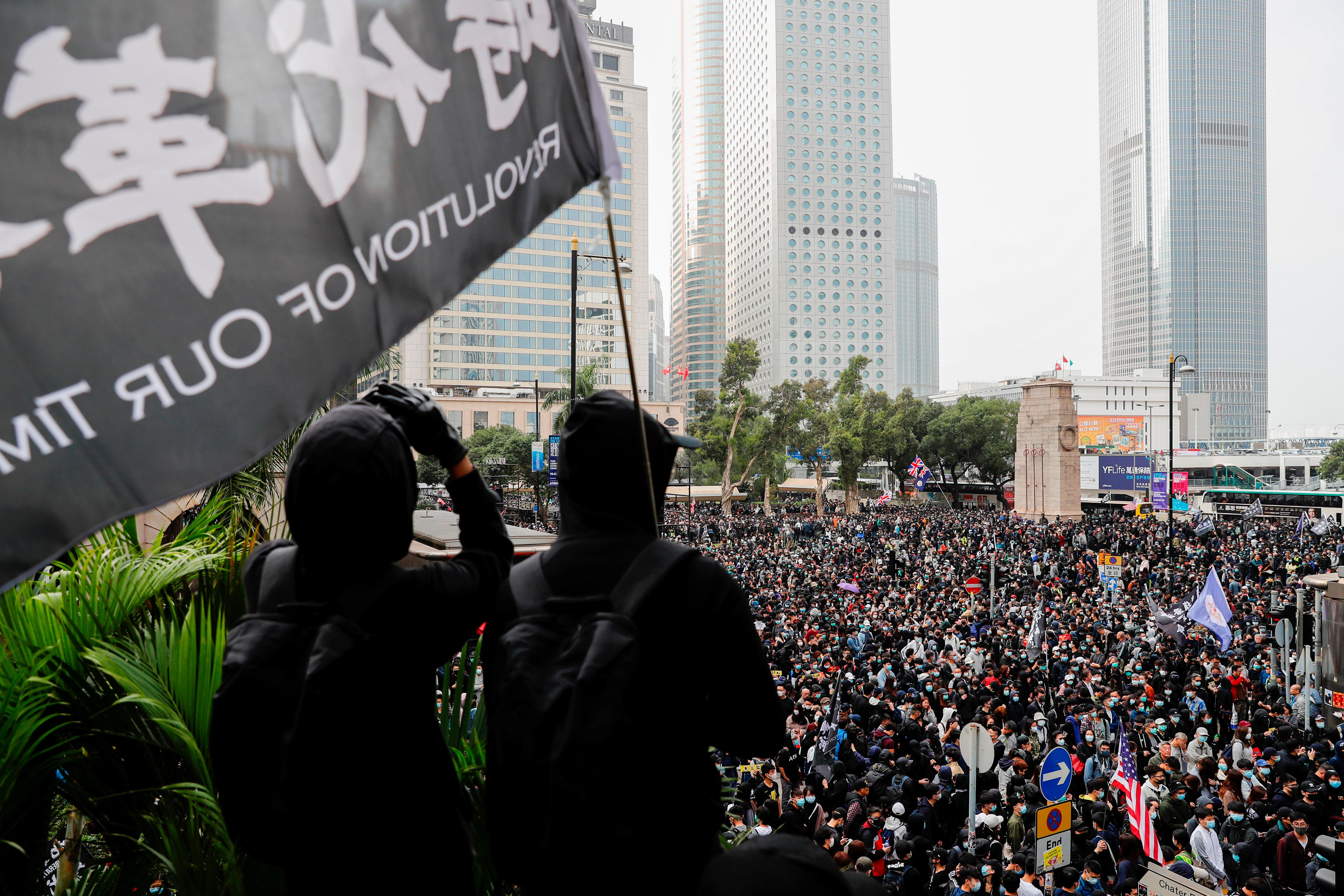 Police arrest organizer of Hong Kong protest after rally turns violent