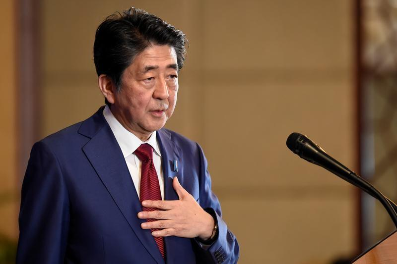 Japan's Abe strikes conciliatory note on South Korea, row may be easing