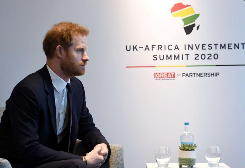Britain's Prince Harry meets African leaders in London