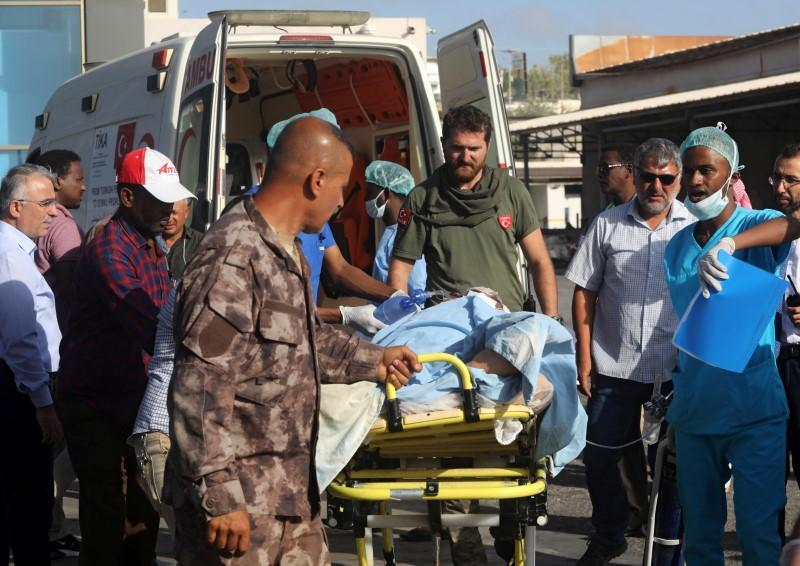 Nine injured in Somali bombing flown to Turkey for treatment