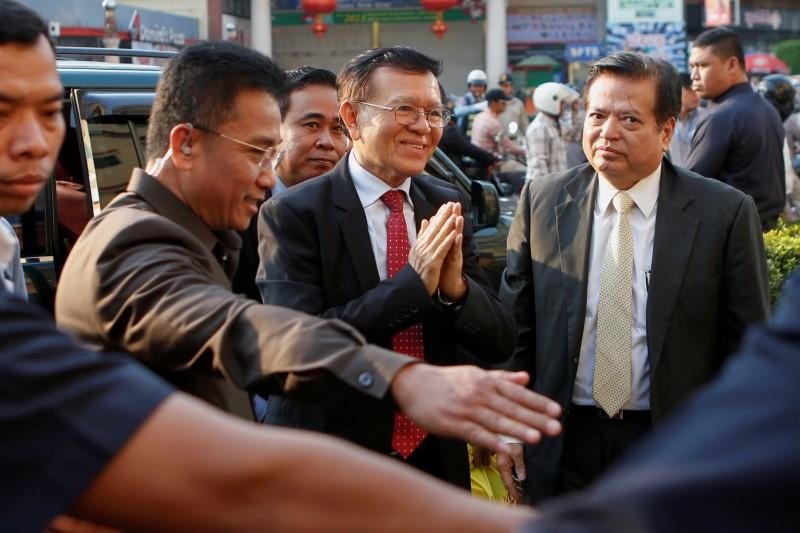 Cambodian opposition leader admits U.S. funding, denies overthrow plot