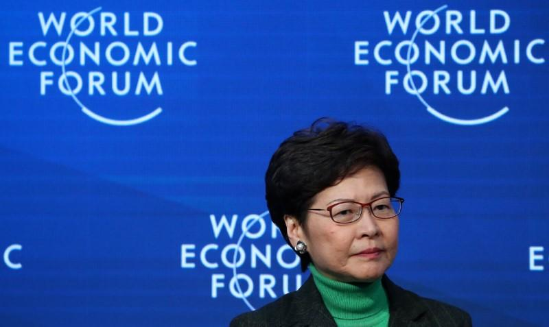 Hong Kong leader Lam says her job to remain to deal with crises