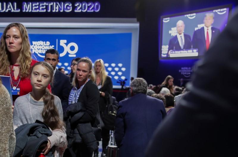 Trump laments missing Davos star Greta's speech