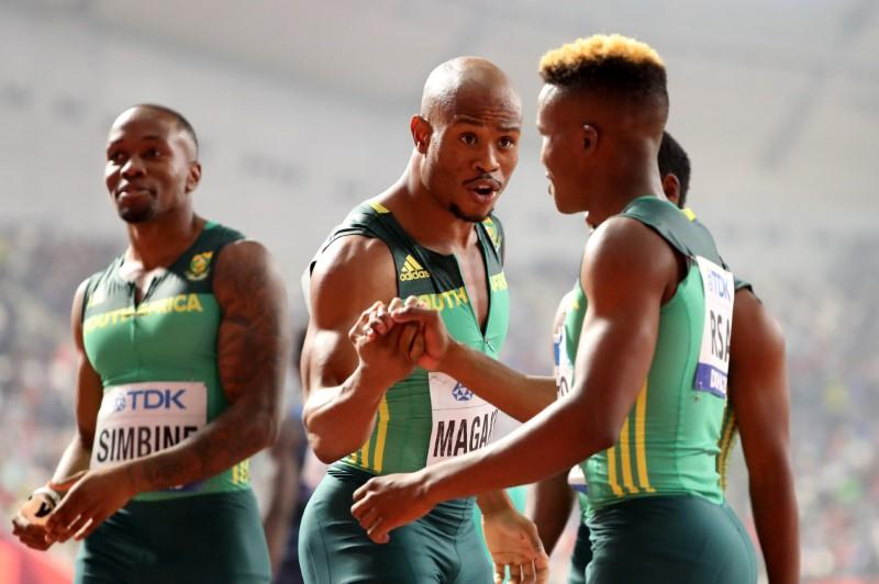 South Africa's relay coach aiming for under 37.60 and podium...