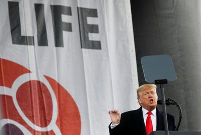 Trump speaks at anti-abortion March for Life