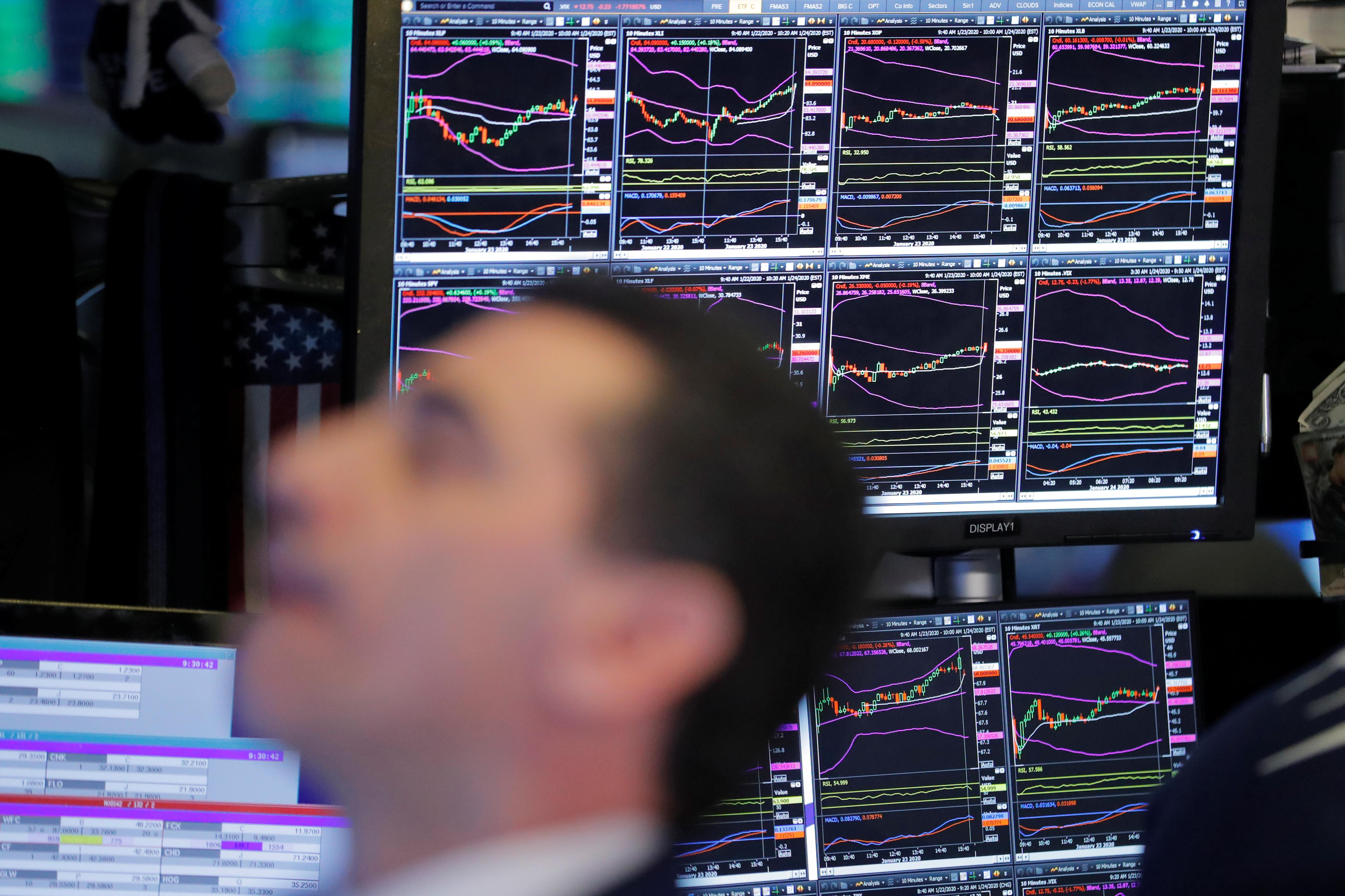 Futures tumble on fears of financial hit from China virus