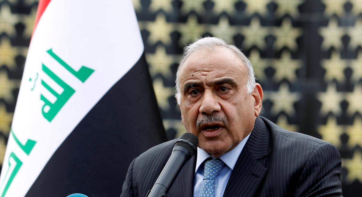 Iraq's Abdul Mahdi stresses the importance of de-escalation in the region