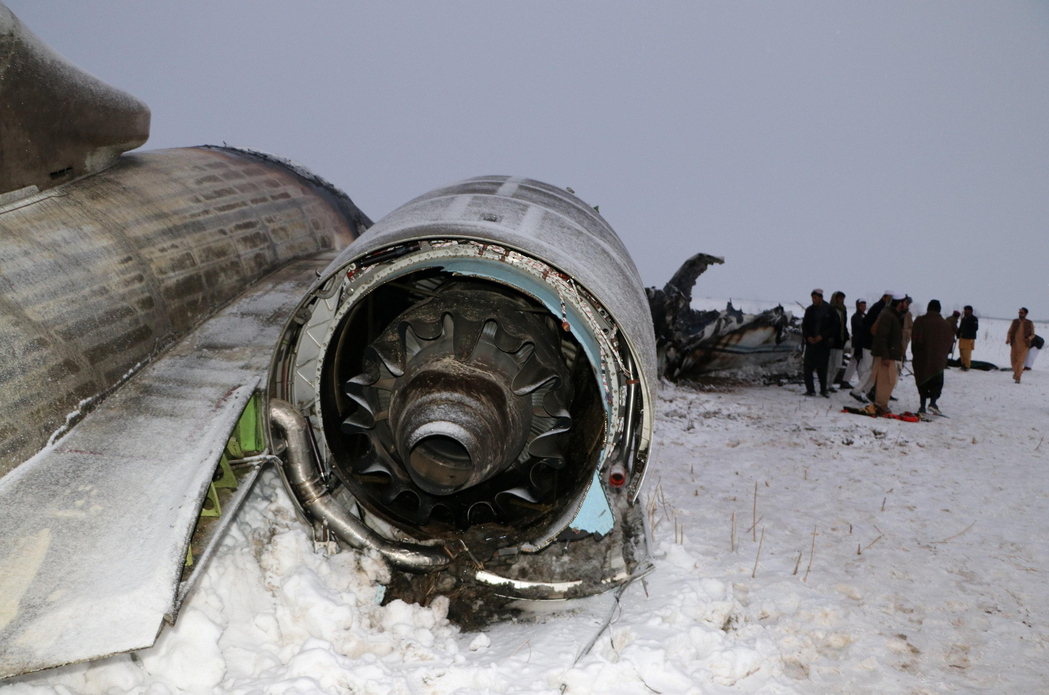 U.S. military recovers remains from Afghanistan plane crash