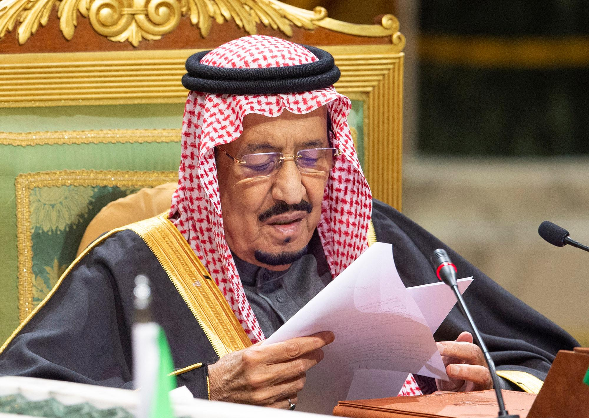 King Salman reassures Saudi Arabia's commitment to the Palestinian...