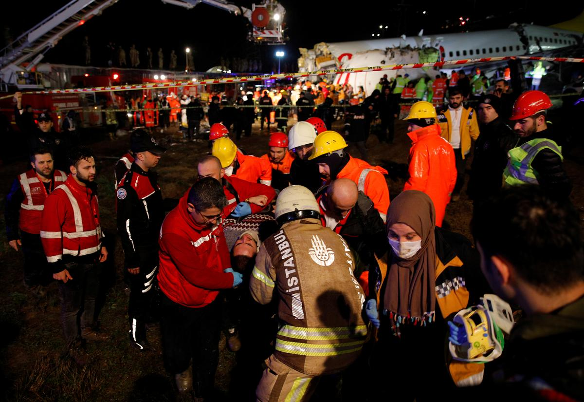 Image result for AIR MISHAP 179 PERSONS INJURED AS PLANE SKIDS OFF RUNWAY IN ISTANBUL