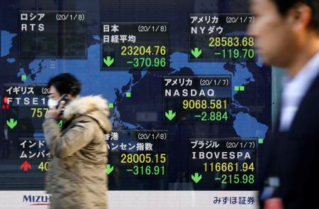 Asian shares gain after solid U.S. data, focus on virus