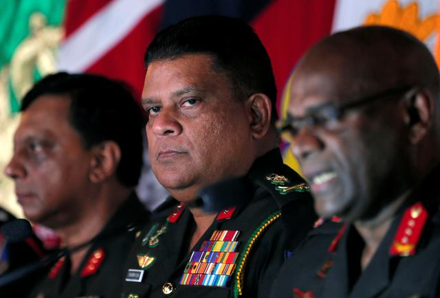 FILE PHOTO: Chief of staff of Sri Lankan army Shavendra Silva attends a news conference in Colombo, Sri Lanka May 16, 2019. REUTERS/Dinuka Liyanawatte