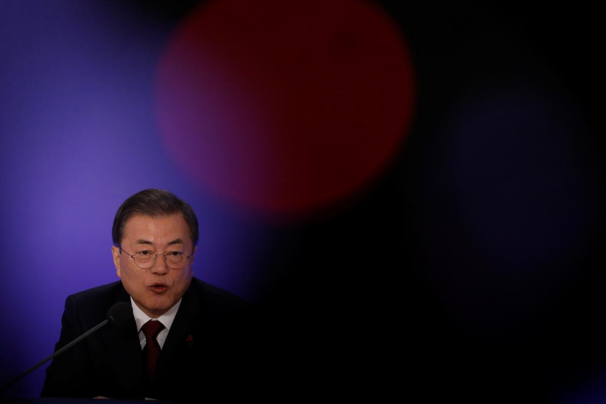 South Korea's Moon flags steps for virus-hit economy, boosting rate cut expectations