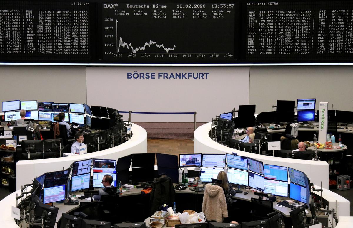 Stocks scale fresh peaks on slowing virus, dollar gains