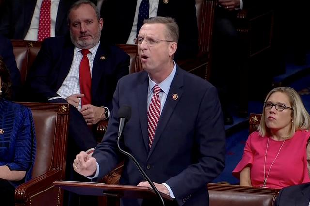 FILE PHOTO: House Judiciary Committee Ranking Member Doug Collins (R-GA) speaks ahead of a vote on two articles of impeachment against U.S. President Donald Trump on Capitol Hill in Washington, U.S., in a still image from video December 18, 2019.   House TV via REUTERS
