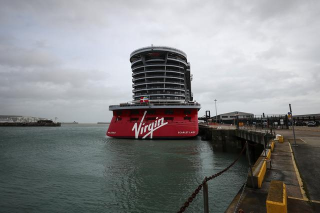 The Virgin Voyages Scarlet Lady cruise liner sits docked at Dover Port in Dover, Britain, February 21, 2020. REUTERS/Simon Dawson
